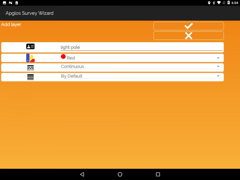 Apglos Survey Wizard-add layer screen