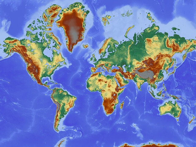 The map of the world showing the coordinate systems integrated in Apglos Survey Wizard