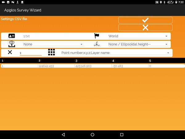 Open land survey file format TXT